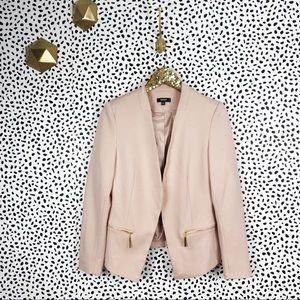 Premise pink and gold blazer jacket 10 petite